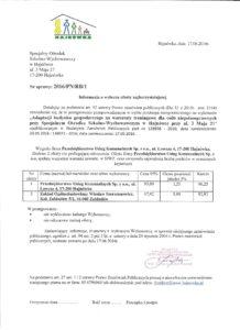 SOSW-informacja o wyborze oferty 001
